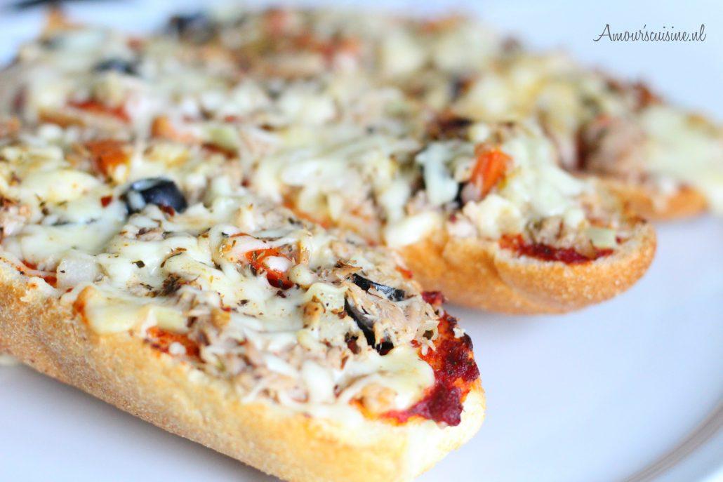 stokbrood pizzatjes